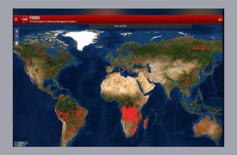Ο πλανήτης φλέγεται – Η απεικόνιση της NASA με τις πυρκαγιές σε όλο τον κόσμο